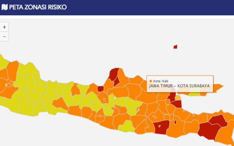 Zona Oranye Surabaya Masih Perlu Kewaspadaan